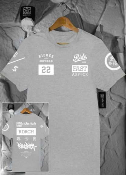 Ride Rich GP T Shirt Grey