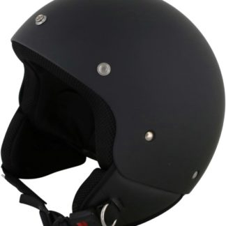 Duchinni D222 Retro Motorcycle Helmet Matt Black