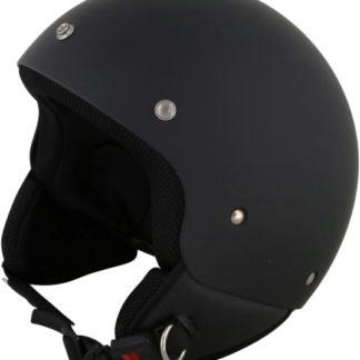 Duchinni D222 Retro Motorcycle Helmet Matt Black