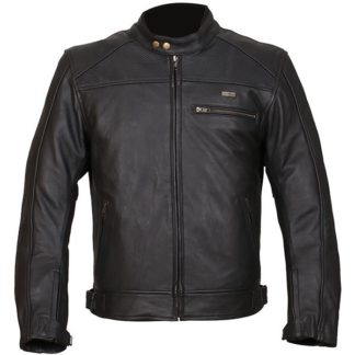 Duchinni Strike Leather Motorcycle Jacket Black