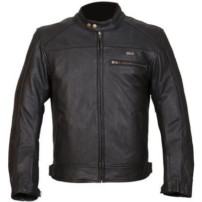 Duchinni Strike Leather Motorcycle Jacket Black
