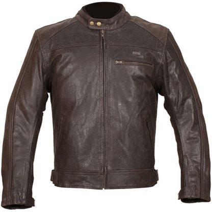 Duchinni Strike Leather Motorcycle Jacket Brown