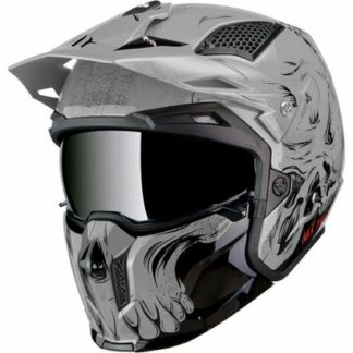 MT Streetfighter Darkness Motorcycle Helmet Grey