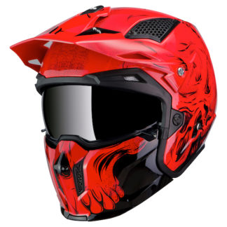 MT Streetfighter Darkness Motorcycle Helmet Red
