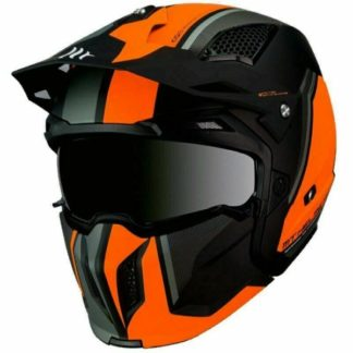MT Streetfighter Twin Motorcycle Helmet Matt Orange