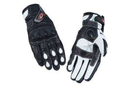 PB Dell Motorcycle Gloves Knox SPS White