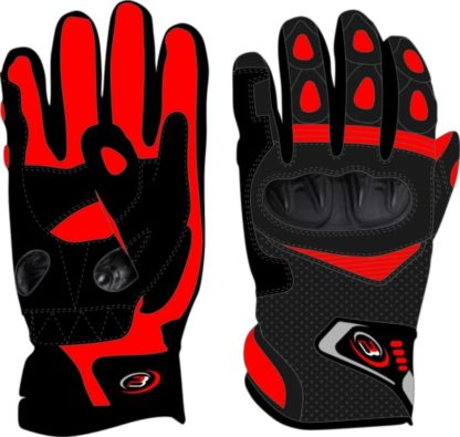 PB Dell Motorcycle Gloves Knox SPS Red